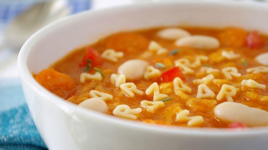طرز تهیه غذای کمکی نوزاد – سوپ ایتالیایی ماکارونی الفبا شکل